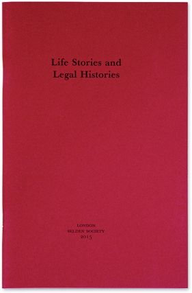 Life Stories and Legal Histories. Cornish William