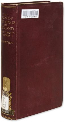 The Laws of the Kings of England from Edmund to Henry I. A. J. Robertson