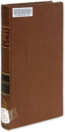 Essays upon the Form of the Law. Thomas Erskine Holland
