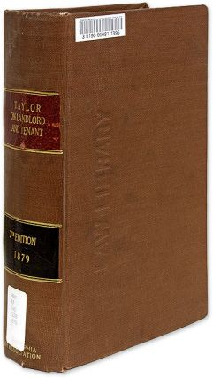 A Treatise on the American Law of Landlord and Tenant, 7th Ed. Joseph Willard