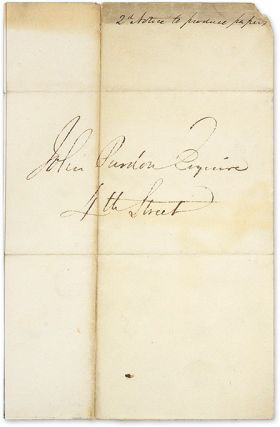 Autograph Letter, Signed, Philadelphia, February 13, 1838.