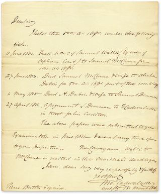 Autograph Letter, Signed, Philadelphia, March 53, 1816. Manuscript, Thomas Cadwalader
