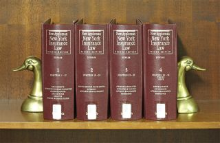 New Appleman New York Insurance Law, Second Edition. 4 Vols Nov. 2018. Wolcott B. Dunham Jr.,...