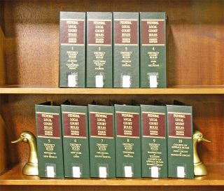 Federal Local Court Rules 4th ed. 10 Vols. current thru February 2019. Thomson Reuters