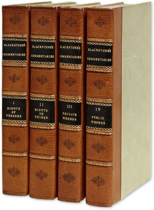 Commentaries on the Laws of England, By the Late Sir W Blackstone. Sir William Blackstone, Chitty...