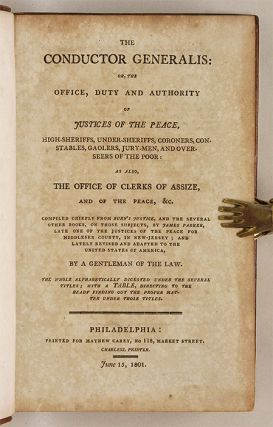 The Conductor Generalis, Or the Office, Duty and Authority of...