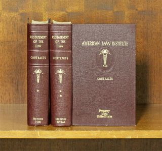 Restatement of the Law of Contracts [1st]. 2 vols. American Law Institute