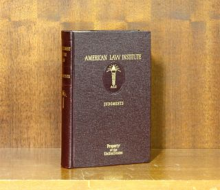 Restatement of the Law of Judgments [1st]. 1 Volume. American Law Institute