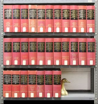 American Law of Products Liability 3d. 29 Vols. 10 linear feet. Thomson Reuters