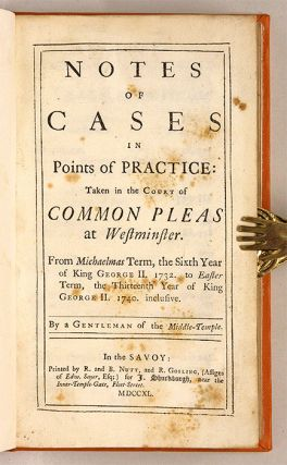 Notes of Cases in Points of Practice, Taken in the Court of Common...