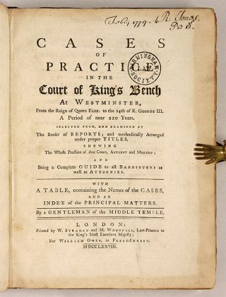 Cases of Practice in the Court of King's Bench at Westminster, From...