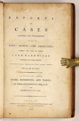Reports of Cases Argued and Determined in the King's Bench and...