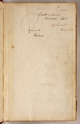 Account Book of Cosby & Turner, Richmond, Virginia, 1871-1875.