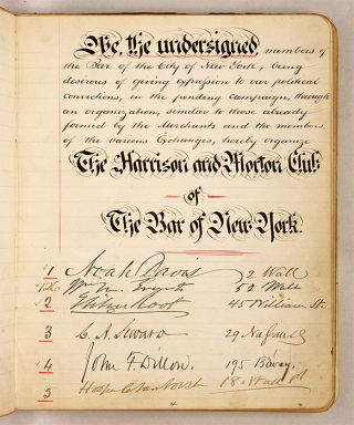 Harrison & Morton Club of New York, New York, 1888.