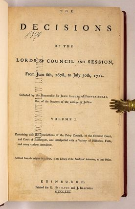 The Decisions of the Lords and Council and Session, From June 6th...