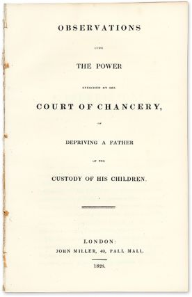 Observations upon the Power Exercised by the Court of Chancery. John Beames