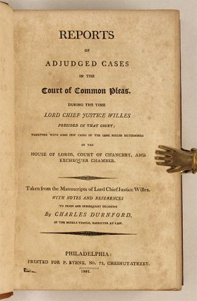 Reports of Adjudged Cases in the Court of Common Pleas