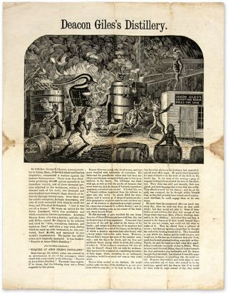 Deacon Giles's Distillery, New York, 1865. Broadside, Temperence, George Barrell Cheever