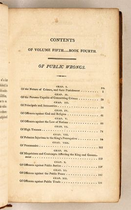 Blackstone's Commentaries: With Notes of Reference, Volume V