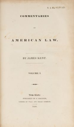 Commentaries on American Law, First Edition, Vols I to III (3 books)