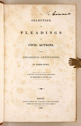 A Selection of Pleadings in Civil Actions, With Occasional...