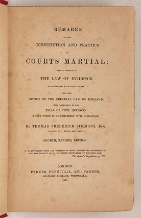 Remarks on the Constitution and Practice of Courts Martial, With a...