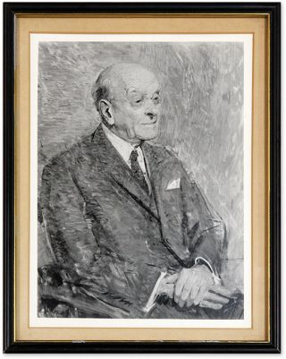 Reproduction of a Portrait of Frankfurter, Matted, Glazed and Framed. Felix Frankfurter