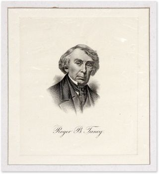 Engraved Image of Taney, Mounted and Matted.