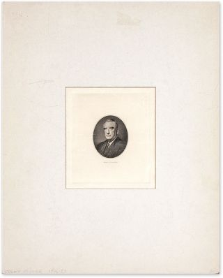 Engraved Image of Vinson, Mounted and Matted. Fred M. Vinson