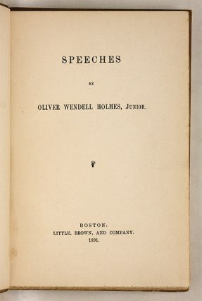 Speeches, Boston, 1891, First edition.