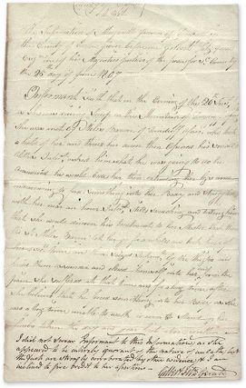 Account of a Rape, County Carlow, Ireland, June 25, 1807. Manuscript, Trial, Ireland