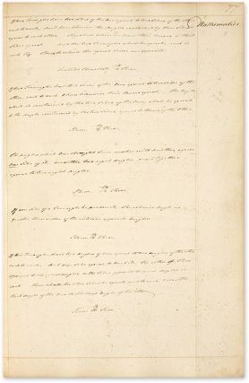 Commonplace Book by a Student of History, Law and Government, c 1770.