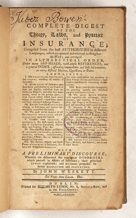A Complete Digest of the Theory, Laws, And Practice of Insurance...