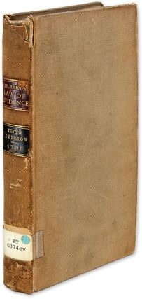 The Law of Evidence. Philadelphia, 1788. 1st American Edition. Sir Geoffrey Gilbert