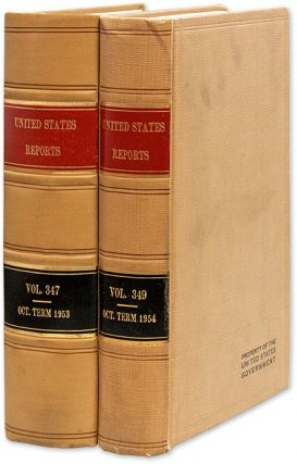 United States Reports Vol 347 [and] United States Reports Vol 349. United States Supreme Court,...