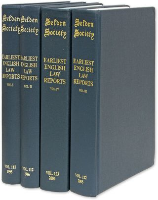 The Earliest English Law Reports. 4 vols. Complete. Selden Society. Brand Paul A