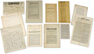 Pamphlets, Circulars, Offprints and Letters Concerning Tariffs. Archive, Tariffs