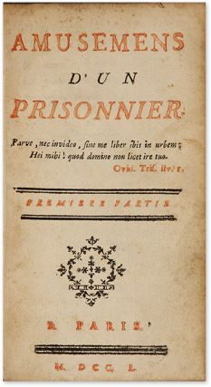 Amusemens d'un Prisonnier, 1750, First edition, 2 vols in 1.
