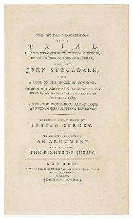 The Whole Proceedings on the Trial of an Information Exhibited...