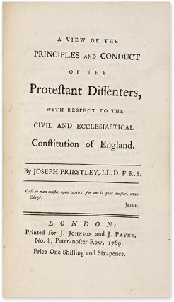 An Essay on the First Principles of Government [& Three Other Works].