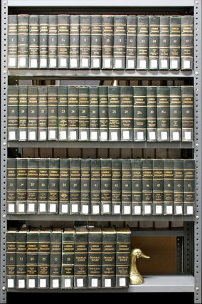 American Jurisprudence [1st]. 63 Volumes, lacking 3 books. Lawyers Cooperative Publishing Co