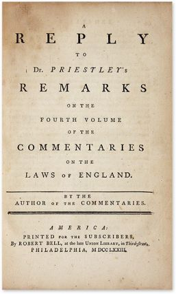 An Interesting Appendix to Sir William Blackstone's Commentaries...