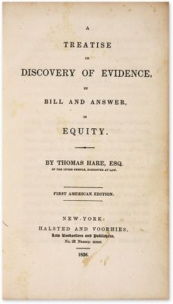 A Treatise on Discovery of Evidence, by Bill and Answer, in Equity