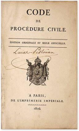 Code de Procedure Civile [Bound with] Table Alphabetique et Raisonnee.