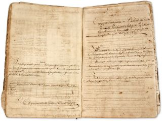 "Formbook, New York, c. 1765, 14-3/4"" x 9-3/4,"" 89 pp. Manuscript, Legal Education"