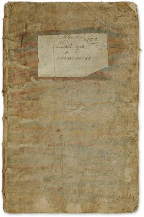 "No 23, V 1 2, Domesday Book for Devonshire, 18th C, 15-1/2"" x 10-1/2."" Manuscript, Domesday Book"
