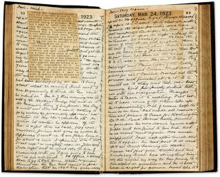 Diary of Norman L Bassett, Augusta, Maine, 1916, 1919, 1923.