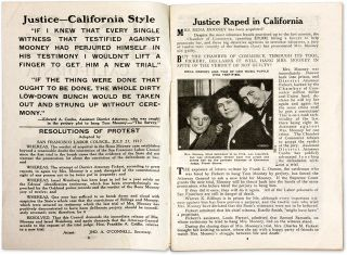 Justice Raped in California, Story of So-Called Bomb Trials in San...