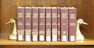 American Law of Property. Vols I-VII, wth 1976 bd supp., in 9 books. A. James Casner