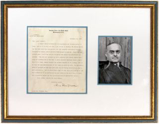 Typed Letter, Signed, on US Supreme Court Letterhead, Framed. Felix Frankfurter, Lloyd P. Stryker